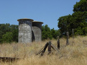 Jack London built the first cement silos in California
